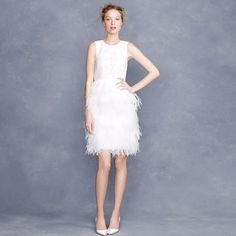 J. Crew Embroidered feather dress