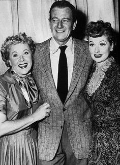 Lucy, Vivian Vance & John Wayne