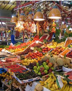 Central Food Market, Florence, Italy  one of my favorite sights when visiting Florence...