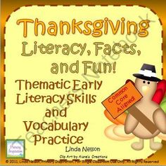 Thanksgiving ~  Literacy, Facts, and Fun! Enter for your chance to win 1 of 3.  Thanksgiving: Literacy, Facts, and Fun (71 pages) from Linda Nelson on TeachersNotebook.com (Ends on on 10-29-2014)  Enrich your November social studies learning with this set of more than ten multi-level literacy center activities! Resource value: $7