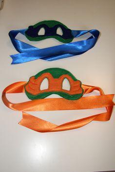 READY MADE TMNT masks... blue and orange