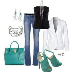 Teal, created by michelled2711 on Polyvore