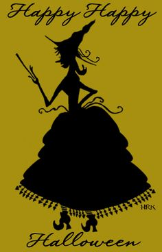 SkullBlossom: Free Web Graphics and Clipart: Witch Gal Silhouette: Free Halloween Graphics
