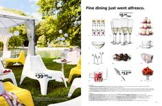 IKEA Yellow and white pool chairs