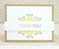 Deco Border Thank You Card by Nichole Heady for Papertrey Ink (March 2014)