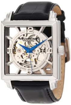 Stuhrling Original Men's 333.33152 Lifestyles Winchester Plaza Automatic Skeleton Black Watch $105.99