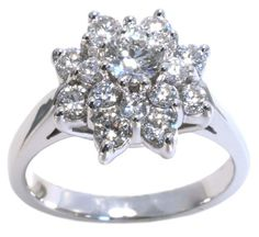 #dazzling #diamond ring with 0.97carat total diamond weight in 14k white gold