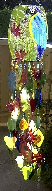 Windchimes suncatchers on pinterest wind chimes for Colored porcelain koi fish wind chime