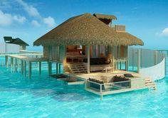 Wow.     Located  in Maldives:   http://www.visitmaldives.com/en