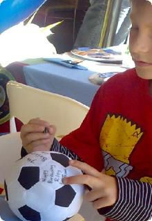 Soccer Party....Have guests sign the soccer ball.