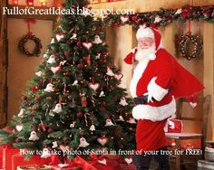 DIY Photo Of Santa ... For free #SantaClaus #Photos #Photograph #Photography #DIY #Winter #Christmas #Decorations #Decorate #Decor