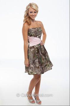 camo dress bridesmaid