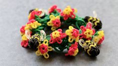 MonsterTail Mini Flower Charm Tutorial
