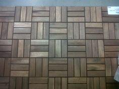 Ikea wood tiles? maybe