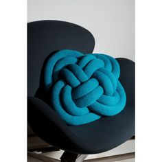Turks Head Pillow by Ragnheiður Ösp for Notknot: Made of Icelandic wool.  #Pillow #Turks_Head_Knot