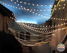 fiesta party, hanging lights, party lighting, outdoor patios, string lights, outdoor parties, lighting ideas, outdoor spaces, party lights
