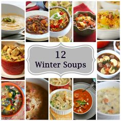 """""""Must Make Soups To Warm-Up Your Winter Menu"""" from Parade  - Most of these recipes are full of iron-rich ingredients and other nutrients."""