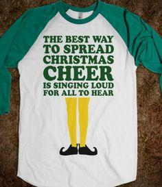 holiday, baseball shirts, gift ideas, cheer shirts, christmas morning, christmas shirts, quot, elves, buddy the elf