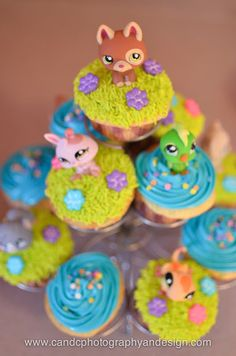 littlest pet shop party cupcakes
