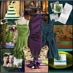 Peacock Wedding- love the colors & love the purple dress!