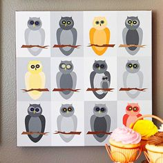 art inspir, inspiration, artworks, owl artwork, diy wall art, printabl wall, owls, art pieces, art projects