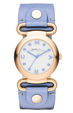 MARC BY MARC JACOBS 'Small Molly' Leather Strap Watch, 30mm | Nordstrom