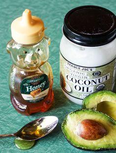 Amanda k. by the bay: Coconut Avocado  Honey Hair Mask