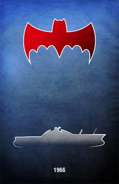 """""""Batman"""" 1966 Batmobile poster."""