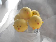Easter Chicks cake pops. Perfect for your Easter Baskets or any other special event