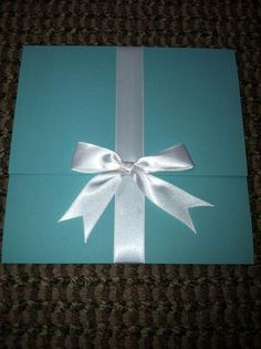 wedding invitations.... I would use this for a tiffany themed bridal shower invitation!