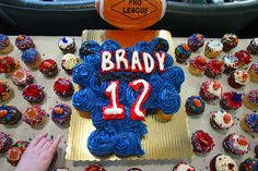 Cupcakes set out for Patriots fans by the Rhode Island Airport Corporation