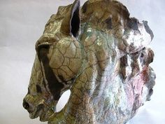 Lesley Martin 2010 Horse head - looks like Raku - realistic but also creatively styled.