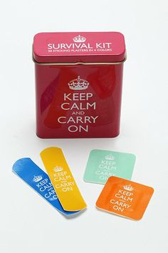 'Keep Calm and Carry On' Bandages // cute stocking stuffer!