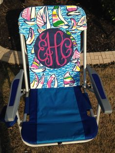 Lilly Pulitzer Inspired monogram beach chair!