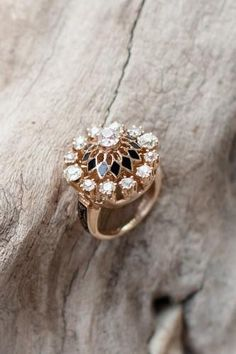 A gorgeous antique engagement ring.