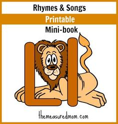 printable book of familiar rhymes and songs for letter L - great for little hands!