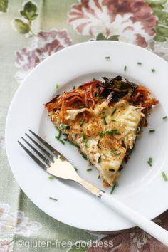 Karina's Gluten-Free Pasta Frittata with Kale (Dairy-Free)