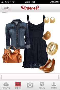 Navy and Camel colored outfit