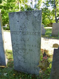 Nutfield Genealogy: Tombstone Tuesday ~ John Emerson and Elizabeth French of Chester, New Hampshire #genealogy #familyhistory