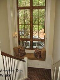 wood windows & white trim