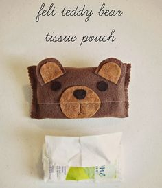 Tutorial: Felt teddy bear tissue pouch