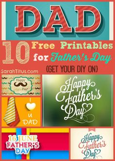10 Free Printables For Father's Day - Get Your #DIY On