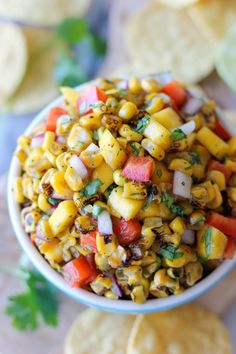 Grilled Corn Mango Salsa - A blend of fresh ingredients that will turn any dish into an exciting new favorite!