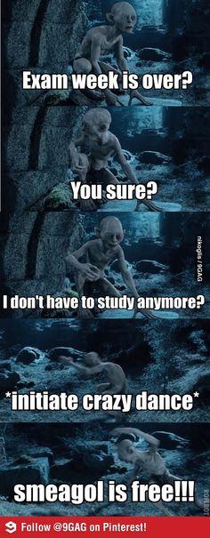 So... exam week is over...