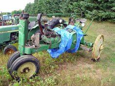 John Deere A tractor salvaged for used parts. Millions of new, rebuilt and used parts in our 7 huge salvage yards. For parts call 877-530-4430 or http://www.TractorPartsASAP.com