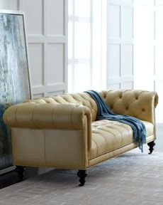 Old Hickory Tannery Tufted Leather Sofa from Horchow