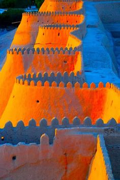 Walls of The Ark Fortress - Bukhara, Uzbekistan: