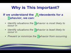Understanding the 3 B's of Behavior tutorial