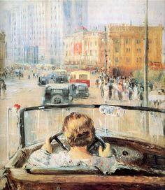 Pimenov, Yuri  (Russian, 1903-77)  New Moscow1937