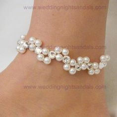 anklet pearl catch the wave